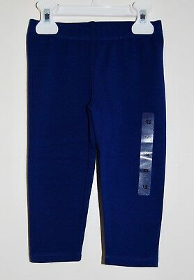 NWT The Children's Place Little Girls Solid Navy Blue Cropped Leggings sz XS / 4