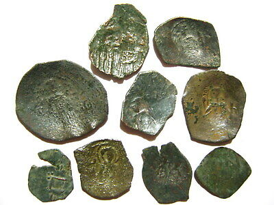 Second Bulgarian Empire 1186-1215 AD Byzantine Trachy Anonymous Bronze Scyphate