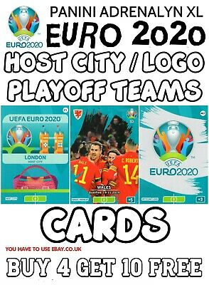 Panini Adrenalyn Xl Uefa Euro 2020 Host City Magic Moment Mascot Logo Cards