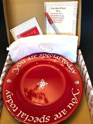 """You Are Special Today"" Waechtersbach Germany The Original Red Plate Co. W/ Pen"