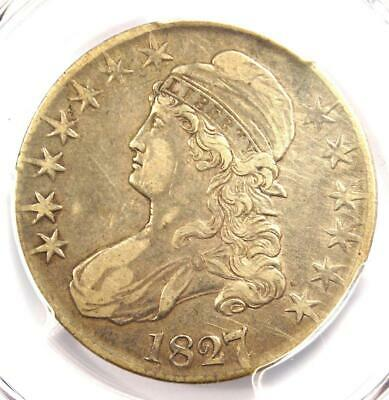 1827/6 Capped Bust Half Dollar 50C - PCGS XF Detail - Rare EF Overdate Coin!