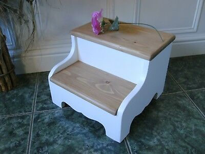 step stool shabby chic pine foot stool