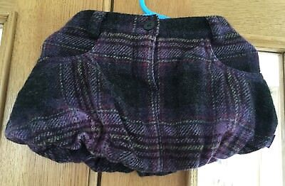 Baby Girls Ted Baker Purple Wool Skirt Size 12 Months