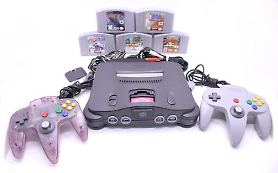 Nintendo 64 (Bundle) - 5 Games - 2 Controllers - Pwr Supply - RCA Cords RF429