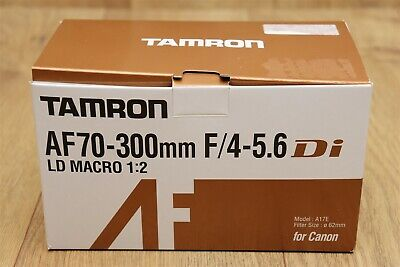 TAMRON AF70-300mm f/4-5.6Di Lens LD MACRO 1:2 for Canon, Model A17E