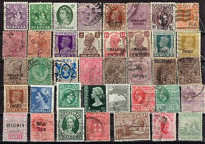 British Empire Colonies old classic stamps lot