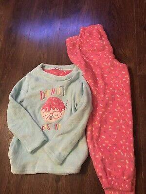 Brand New Girls Soft Warm Cosy Donut Pyjamas Pjs Age 8-9yrs