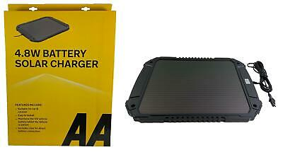 AA 4.8W XL 12V Car Van Caravan Solar Panel Trickle Battery Charger Power Supply