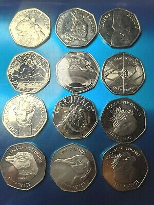 PICK YOUR OWN CHEAP 50p COINS FIFTY PENCE PENGUIN PETER RABBIT ISAAC NEWTON