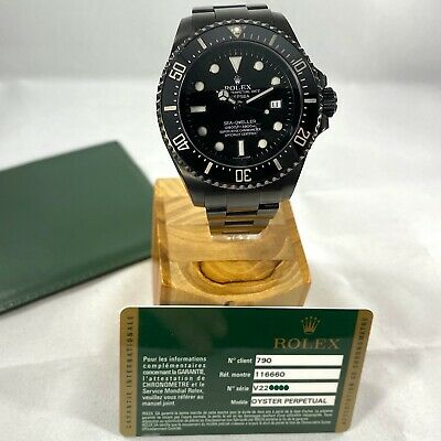Rolex Sea-Dweller Deepsea Venom - ALL Black PVD / DLC WITH PAPERS 44 mm