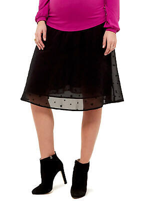 Queen mum - Voile Maternity Pregnancy Lace Party Going Out Black Skirt