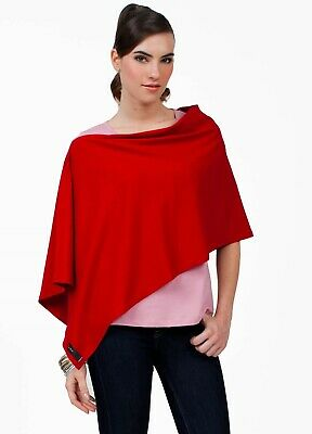 NEW - Dote - Compact Nursing Breastfeeding Shawl Baby Feeding Cover in Red