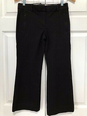 J. Crew Teddie Pants Size 4 Black Cropped Kick Flare Career Casual Style E8366