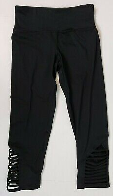 Champion Women's Activewear Capris Leggings Size XS Black Cropped Pants