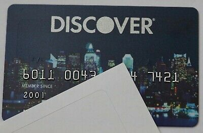 Expired Discover Bank USA Credit Card City Skyline at Night Rare Limited Edition