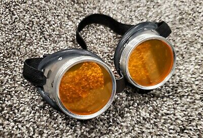 Custom Orange Lense Steampunk Goggles