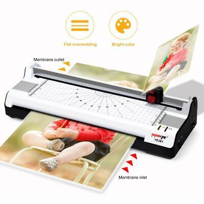 Laminator Machine A4 Home Office Laminating Pouches Photo Card Paper Trimmer