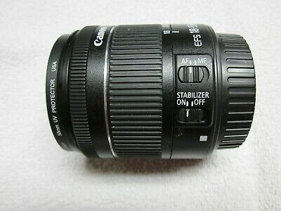 Canon EF-S 8114B002 18-55mm f/3.5-5.6 STM IS Lens  MINT UV & Polarized Filters