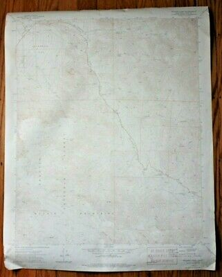 Vintage 1971 USGS Sequoia National Forest California Topographic Map 7.5 Minute
