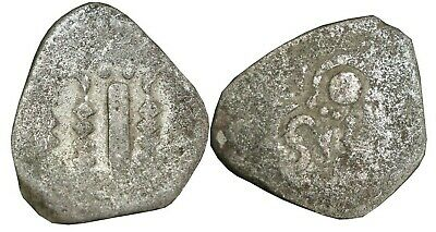 Ancient India Gadhiya Indo Sassanian Thin Planchet Type Silver Drachm Coin