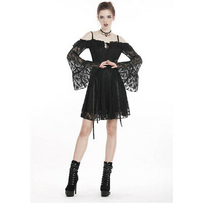 Dark In Love Gothic Goth Okkult Vintage Spitze Minikleid - Lace It Up