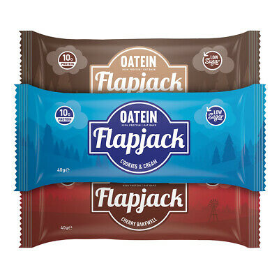 40 Protein Flapjacks for £20 - Oatein Low Sugar Protein Flapjack bar