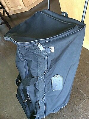 Rolling Luggage Duffle Bag Black Lightweight Travel Carry On Wheeled Meridien 10