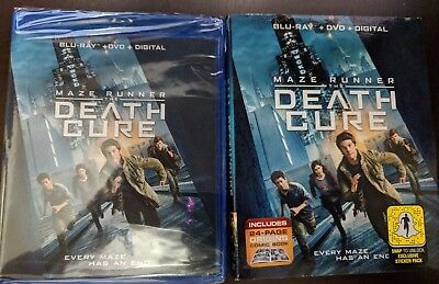Maze Runner Death Cure [Bluray+Dvd Discs Only!!!] [No Digital] W/Slipcover
