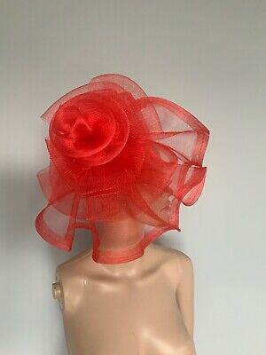 Extra Large Red Statement Fascinator Headband Wedding Ladies Day Accessories
