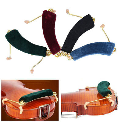 Spring Shoulder Rest Support Holder For Size 3/4 4/4 Red Violin Fiddle Music LD