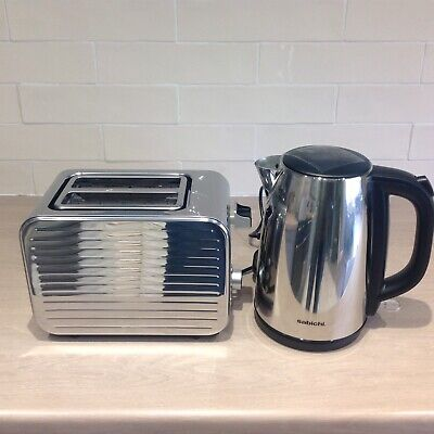 Sabichi Stainless Steel Kettle and 2 Slice Toaster Set