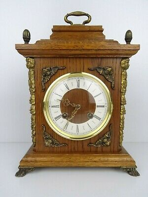 Hermle Vintage Antique Mantel Shelf 8 day Clock (Warmink Wuba Junghans era)