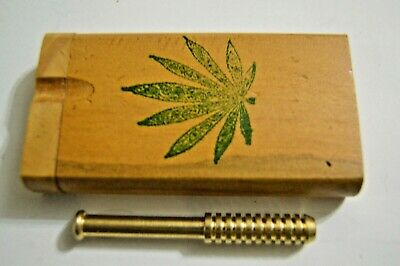 1 Handmade 4 inch Wooden Dugout, With 3 Inch Solid Brass one hitter Batt #2