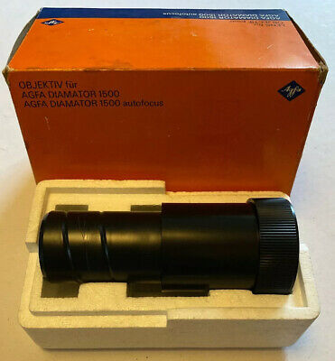 Agfa Agomar 1:3.5 150mm Lens for Diamator 1500 Projector, Boxed & Perfect