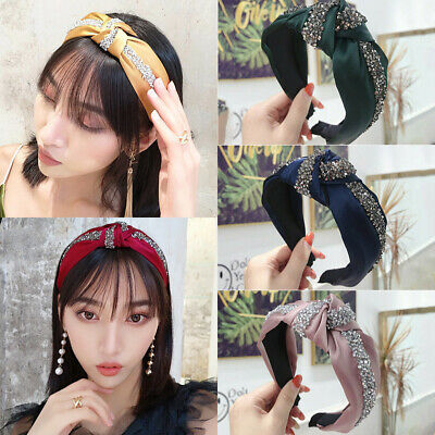 Women Tie Hairband Knot Hair Band Hoop Accessories Chic