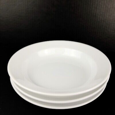 """Set of 3 Williams-Sonoma Essential White Rimmed Soup Cereal Pasta Bowl 10"""""""
