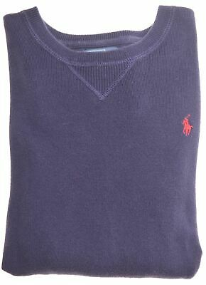 POLO RALPH LAUREN Boys Crew Neck Jumper Sweater 14-15 Years Large Blue  MP07