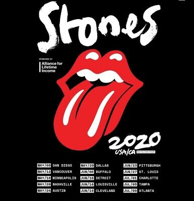The Rolling Stones-No Filter Tour 2020 Louisville,KY 6/14/2020 2 Floor Tickets!!