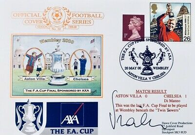Gianluca Vialli HAND SIGNED Chelsea 2000 FA Cup  First Day Cover FDC IN PERSON