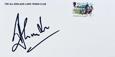 Tim Henman HAND SIGNED Wimbledon Lawn Tennis FDC First Day Cover IN PERSON Rare