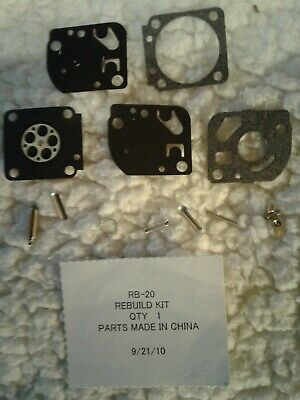 Carburetor Kit For Zama RB-149 Compatible With Fuel Containing Up to 25/% Ethanol