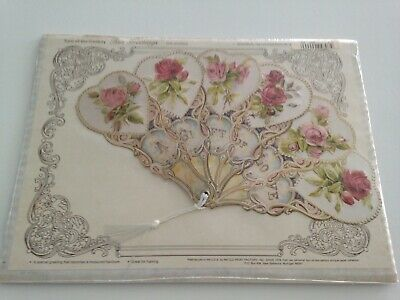 turn of the century beautifully reproduced antique pan fan the gift of love