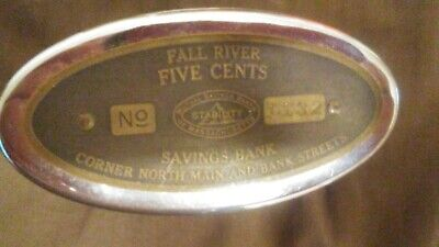 VTG, Vintage traveling teller bank ( Fall River Savings Bank ) Original box, NO