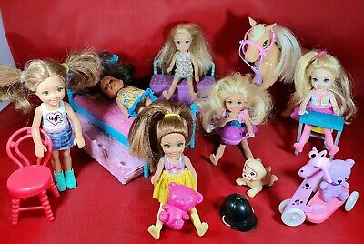 Barbie Little Sister Chelsea Dolls Horse Pets Accessories Mattel Bundle