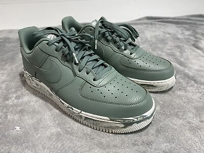 MENS NIKE AIR Force 1 Low Leather Sneakers New, Clay Green