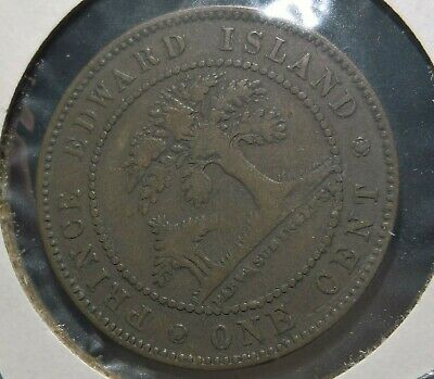 Prince Edward Island Canada Cent 1871 – Nice Condition and Details – C6
