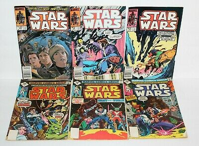 (6) Lot Star Wars Marvel Comics 35 Cent 65 Cent $1.25 # 7 8 9