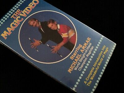 MICHAEL AMMAR - The Magic Video - VHS Vintage Close Up MagicTrick stage Illusion