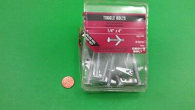 """1/4"""" X 4.0"""" Toggle """"Butterfly"""" Anchor Bolts, Count 10"""