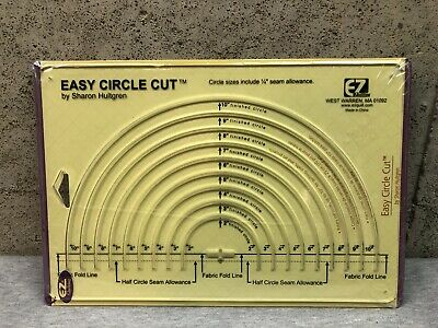 NEW EZ Quilting Easy Circle Cut Plastic Template by Sharon Hultgren SEALED